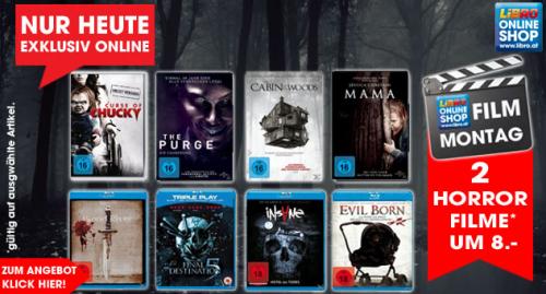 Libro: 2 Horror Filme um 8 € - bis zu 50% sparen