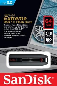 """SanDisk """"Cruzer Extreme"""" USB 3.0 Stick (64 GB) um 33 € - bis zu 30% sparen"""