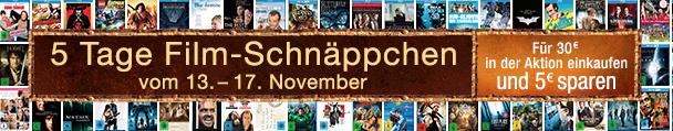 Amazon: 5 Tage Film-Schnäppchen + 5 € Rabatt beim Einkauf für 30 €