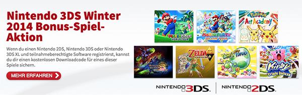 Nintendo: 1 Gratisspiel bei Registrierung eines 2DS/3DS (XL) + Smash Bros. oder Pokémon