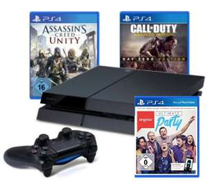 PS4-Bundle mit SingStar: Ultimate Party, CoD: Advanced Warfare oder Assassin's Creed Unity für 399 €