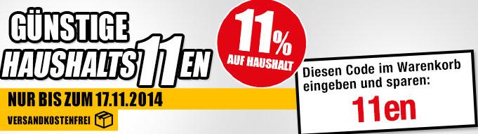 Medion Haushalt-Shop: Gratisversand und 11% auf Alles