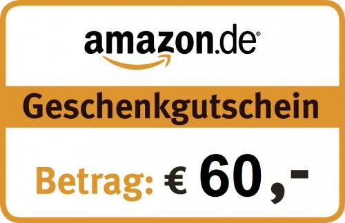 Amazon.de: Gutscheine im Wert von 60 € um 50 € kaufen - 17% sparen