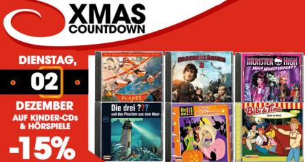 Libro XMAS Countdown - 15 % auf Kinder-CDs & Hörspiele