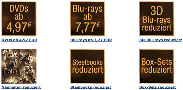 Amazon: 1 Tages-Aktion auf Filme und Boxsets - Blu-rays ab 7,77 €