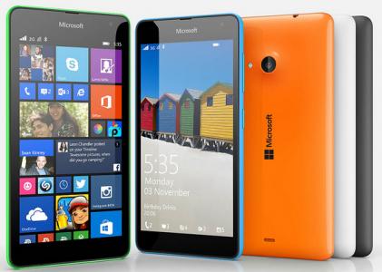 """Microsoft Lumia 535 (5"""", Dual-Sim, Win 8.1, orange) um 110,63 € - 7% sparen"""
