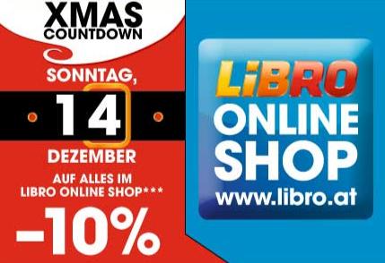 Libro Onlineshop -10% Rabatt auf (fast) alles am Sonntag 14. Dezember