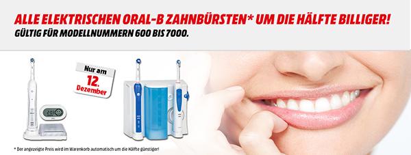 Media Markt Österreich: 50% Rabatt auf (fast) alle elektrischen Oral-B Zahnbürsten