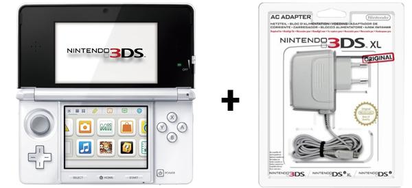 Nintendo 3DS (weiß) + Netzteil für 129 € bei Amazon - 13% Ersparnis