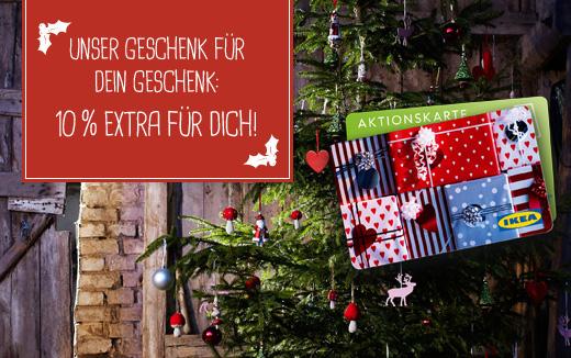 IKEA: Gutschein kaufen und 10% des Gutscheinwerts zusätzlich bekommen