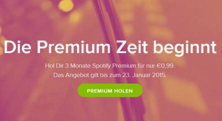 Für Neukunden: 3 Monate Spotify Premium für 0,99 € statt 9,99 €