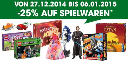 Libro: 25% Rabatt auf Spiele, Puzzles und Spielwaren – bis 6. Jänner 2015