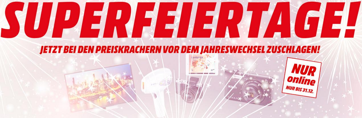 """Media Markt """"Superfeiertage"""" - Jahreswechsel-Angebote"""