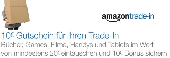 Amazon Trade-In: Artikel für mindestens 20 € eintauschen und zusätzlichen 10 € Aktionsgutschein erhalten