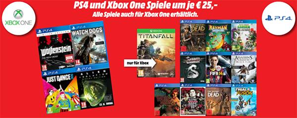 Media Markt Österreich: ausgewählte PS4- und Xbox One Games für je nur 25 €