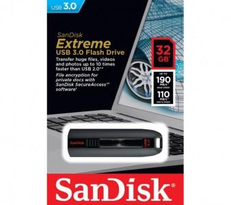 """SanDisk """"Cruzer Extreme"""" USB 3.0 Stick (32 GB) um 19 € - bis zu 34% sparen"""