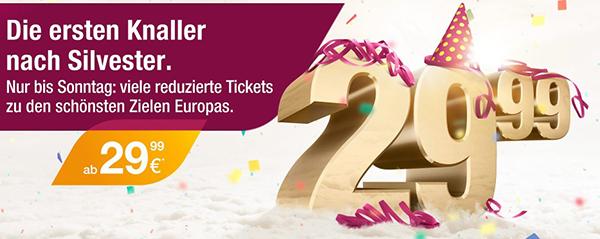 Germanwings: europaweite One-Way-Flüge ab 29,99 € buchen