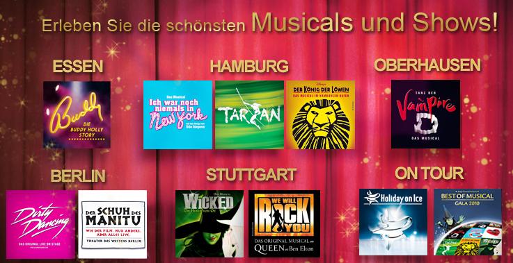 Musical Tickets für den halben Preis in den höchsten Preisklassen bei vente-privee und Prima-Ticket