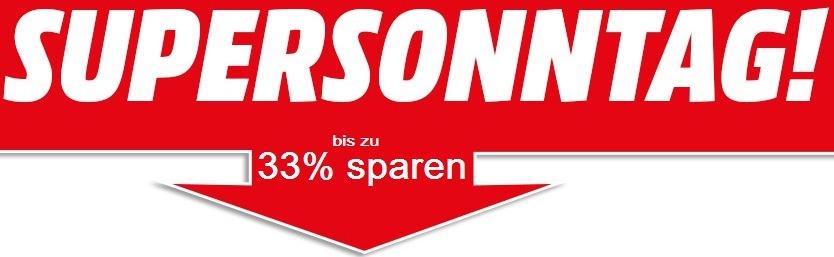 """Media Markt """"Supersonntag"""": 10 Aktionsartikel - bis zu 33% sparen"""