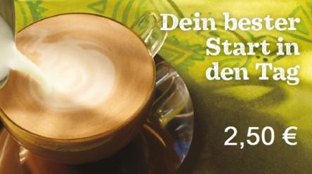 Starbucks: Caffè Latte (Tall) um 2,50 € - 44% sparen