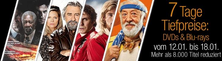 """Amazon """"7 Tage Tiefpreise"""" auf über 8.000 DVDs und Blu-rays (Filme und TV-Serie)"""