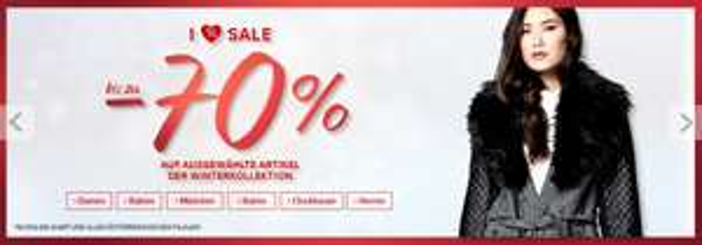 C&A: bis zu 70% Rabatt auf ausgewählte Winterkollektion