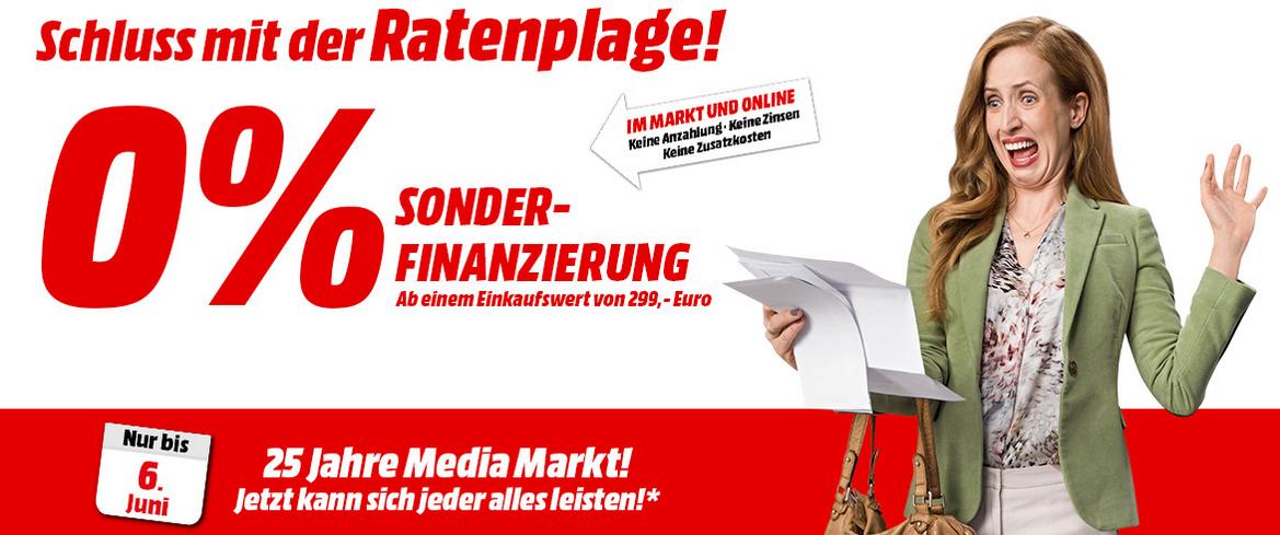"""Media Markt: """"0% Sonderfinanzierung"""" ab 299 € - bis 6.6.2015"""