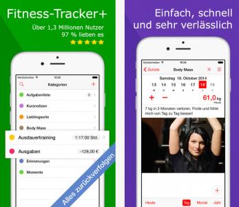 """""""Fitness-Tracker+"""" kostenlos für iOS - 19,99 € sparen"""