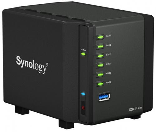 Synology DiskStation DS414slim - NAS-Speicher mit 4 Einschüben um 184 € - bis zu 27% sparen