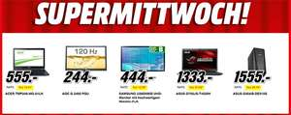 Supermittwoch bei Media Markt Österreich - die Angebote vom 28.01. im Preischeck