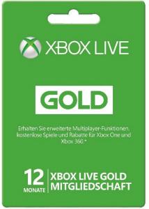 12 Monate XBox Live Gold Mitgliedschaft um 30 € – 19% sparen