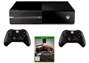 Xbox One Bundle: Konsole + 2 Wireless Controller + Forza Motorsport 5 für 379 € - bis zu 12% sparen