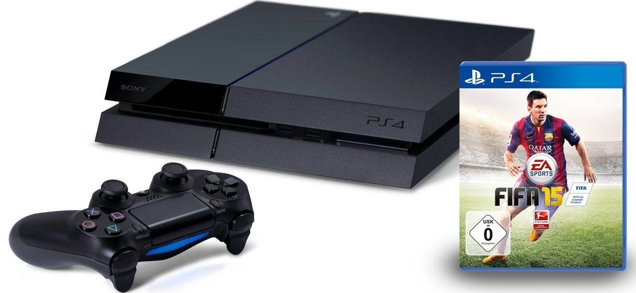 PlayStation 4 (500 GB) + FIFA 15 um 399 € - bis zu 11% sparen