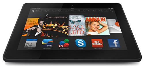 Kindle Fire HDX 7 (16 GB, WLAN, LTE) für 183 € bei Talk-Point - 23% sparen