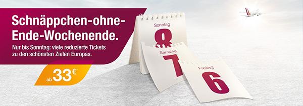 Germanwings: europaweite One-Way-Flüge 33 € buchen