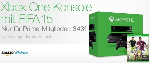 XBox One + FIFA 15 um 343 € - 11% sparen [nur für Amazon Prime]