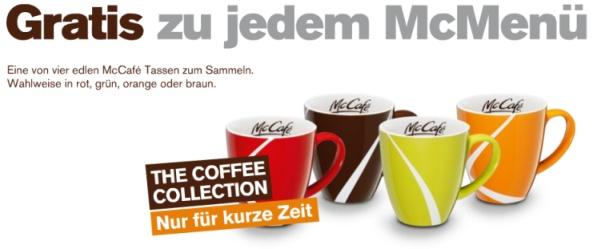 Gratis McCafé Tassen zu jedem McMenü bei Mc Donald's Österreich