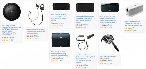 Amazon: 20% Rabatt auf Jabra Produkte - bis zu 27% sparen