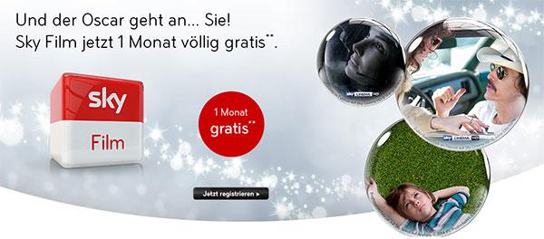 Sky Deutschland: Film-Paket 1 Monat gratis für alle Kunden