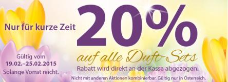 Müller Österreich: 20% Rabatt auf alle Duft-Sets – noch bis am 25. Februar
