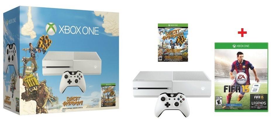 XBox One (weiß) + FIFA 15 + Sunset Overdrive um 379 € - 15% sparen