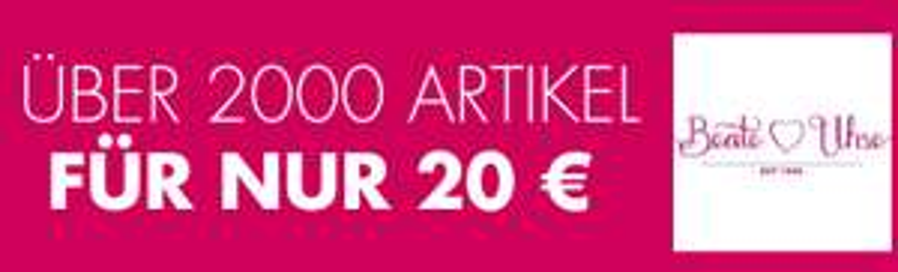 Beathe Uhse: über 2000 Artikel um 20 € - bis zu 75% sparen