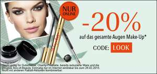 Douglas: 20% Rabatt auf Augen Make Up - bis 26.2.2015