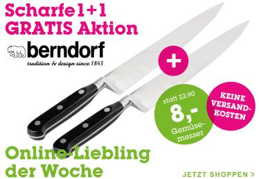 Berndorf Gemüsemesser - 1+1 Gratis um 8 € inkl Versand - 50% sparen