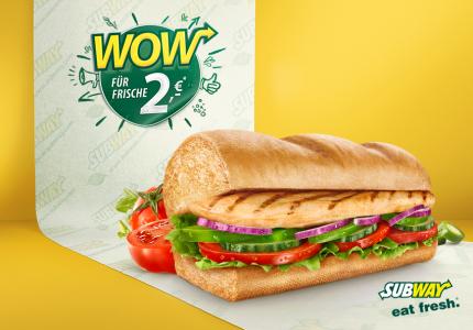 """Subway Österreich: """"Roasted Chicken Sub"""" um 2 €"""