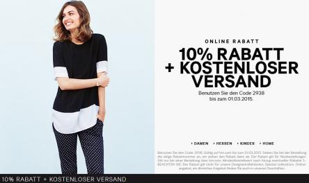 H&M: 10% Rabatt auf Alles + 25% auf Wahlartikel + Gratisversand
