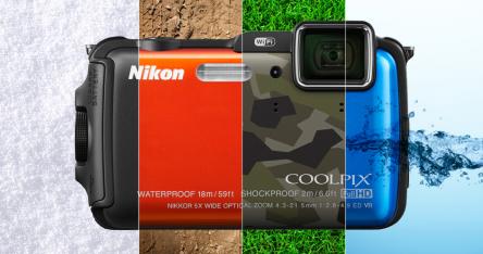 Outdoor-Kamera Nikon Coolpix AW120 (verschied. Farben) für 222 € - 13% sparen