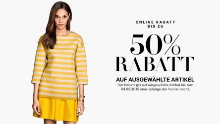H&M: 50% Rabatt auf ausgewählte Artikel + 25% auf Wahlartikel
