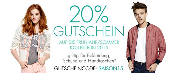 Amazon: 20% sparen auf Mode der Frühjahrs- und Sommer-Kollektion