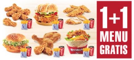Kentucky Fried Chicken - 2 Menüs zum Preis von einem - 50% sparen